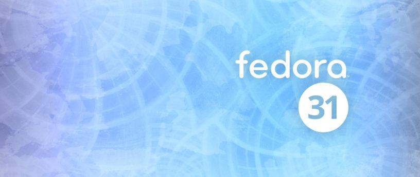 Fedora 31 Official image